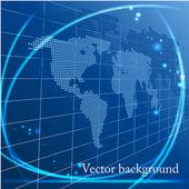 Abstracte achtergrond met kaart — Stockvector