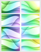 Set of eight bright backgrounds — Stock Vector