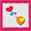 Bird is singing love song from hearts — Stock Photo #8444824