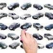 Man is choosing car with marker — Stock Photo #8510154