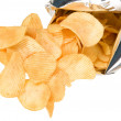 Tasteful chips from golden potatoes — Stock Photo #9648664