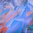 Colorful brushstrokes in oil on canvas — Foto Stock #8233137