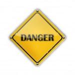Danger Sign — Stock Vector