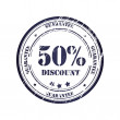 Discount 50 percent Grunge Stamp - Stock Vector