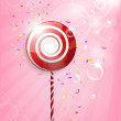 Lollipop Shiny Background Illustration — Stock Vector