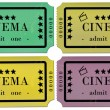 Stock Vector: Cinema Tickets Set