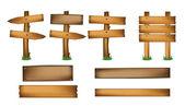 Wood Design Elements — Stock Vector