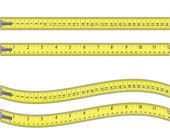 Tape measure isolated on white — Stock Vector