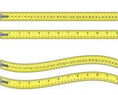 Svinovací metr. izolované na bílém. — Stock vektor