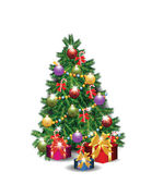 Christmas Tree isolated — Stock Vector