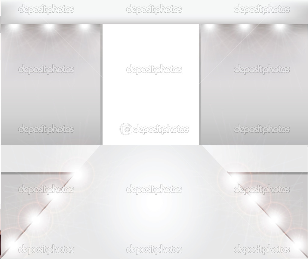 Empty fashion runway  Stock Vector #8884241