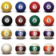 Royalty-Free Stock Vector Image: Billiard Balls