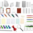Stock Vector: Massive office and stationery tools , use them as you like on any background