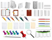 Massive office and stationery tools , use them as you like on any background — 图库矢量图片