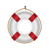 Lifebuoy isolated on white — Vecteur