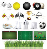 Accessories Collection of Various Sport — Stock Vector