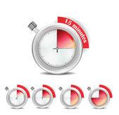 Upravitelné sada kolekce časovač — Stock vektor