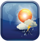 Blue Weather Icon — Stock Vector
