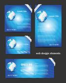 Blue Web Design Elements Set Editable as you wish — Stock Vector