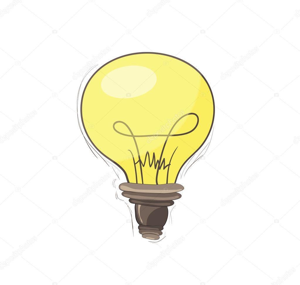 灯泡免费-手绘 - 图库插图