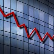 Down Trend Chart — Stock Photo