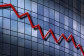 Down Trend Chart — Stock Photo