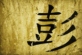 Caligrafia chinesa — Fotografia Stock