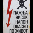 High voltage - Danger — Stock Photo