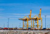 Sea trading port — Stock Photo