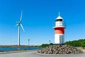 Lighthouse in Reposaari,Finland — Stock Photo