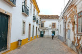 A lone man in the old town — Foto de Stock