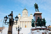 Lutheran church in the central square in Helsinki. — Stock Photo
