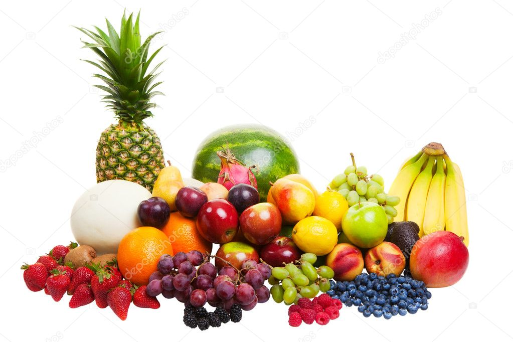 A pile of fruit isolated on a white background — Stock Photo #10478187