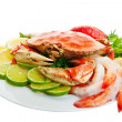 Crab platter - Stock Photo