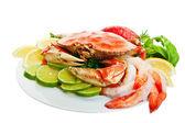 Assiette de crabe — Photo
