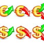 Dollar_&_euro — Stock Vector #9977861