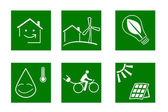 Green symbols — Stock Vector