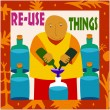 Re-Use Things - Stock Vector