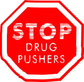 Stop Drug Pushers — Stock Vector