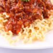 Fusilli bolognese - Stock Photo