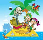 Lustige piraten — Stockvektor