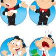 Cartoon manager — Stock Vector