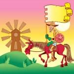 Don Quixote — Stock Vector