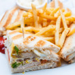 Chicken sandwich — Stockfoto