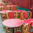 Empty coffee terrace in paris,France — Foto de Stock