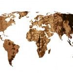 World map vintage artwork — Stock Photo #10247452