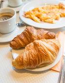 Café da manhã com café — Foto Stock