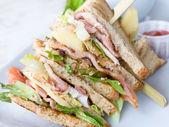 Sándwich con tocino — Foto de Stock