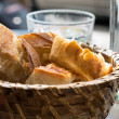 Bread in basket — Stockfoto #10489516