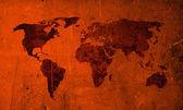 Mapa del mundo vintage rasguño — Foto de Stock